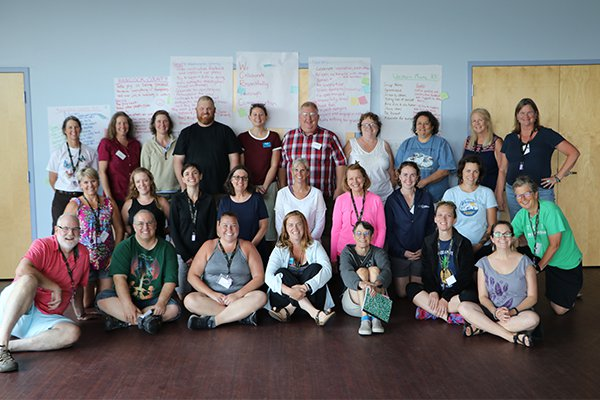 a group of western maine teachers gathers at an RTC workshop